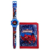 Marvel Ultimate Spiderman Boy's Watch And Wallet Set