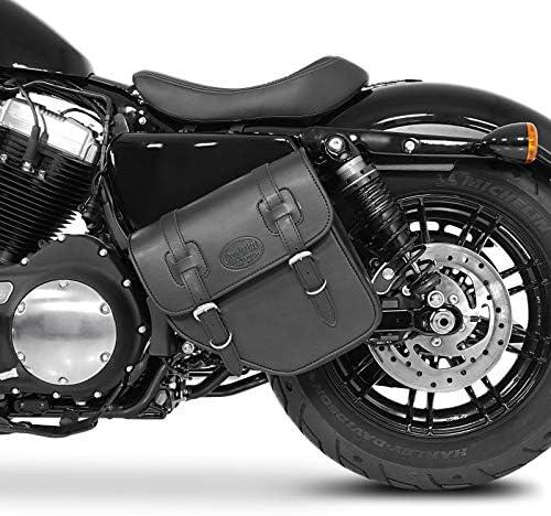 Satteltasche 10L f/ür Harley CVO Softail Breakout schwarz rechts