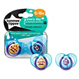 Tommee Tippee Closer to Nature 2-Pack 6-18 Months Every Day Pacifier, Boys