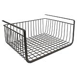 InterDesign York Lyra Under Shelf Hanging Wire Storage Basket for Kitchen Pantry - Bronze