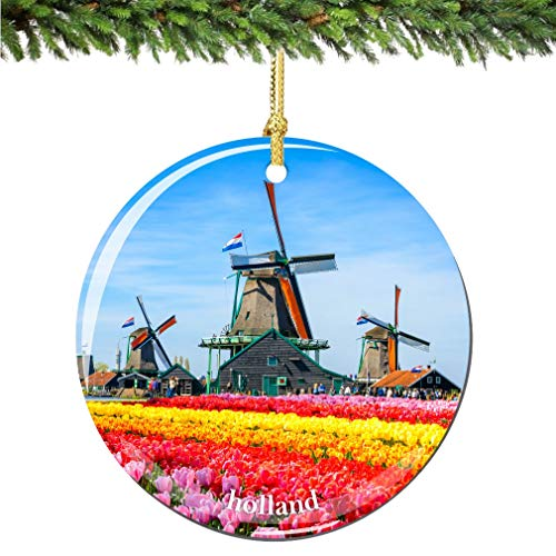 City-Souvenirs Holland Christmas Ornament Porcelain Double Sided