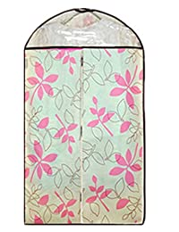 Generic Thicken Floral Printed Dust-proof Clothes Cover Suit Dress Cover Garment Bag (Style 5)