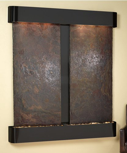 - Adagio Cottonwood Falls Fountain w/Rajah Natural Slate in Blackened Copper Finish