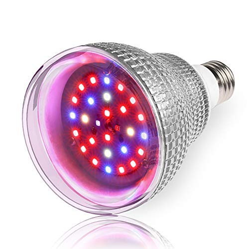 LVJING 50W Grow Light Bulb, Full Spectrum Grow Lights for Indoor Plants, LED Plant Light Bulbs for Indoor Garden Houseplants, Commercial Hydroponic Horticulture, E26&E27