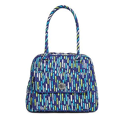 - Vera Bradley Turn Lock Satchel Bag in Katalina Showers