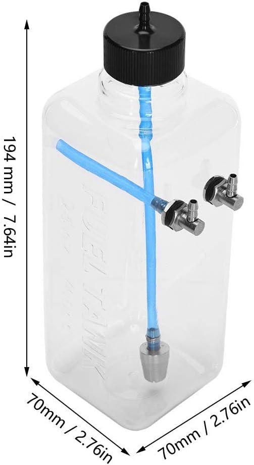DEWIN Serbatoio Carburante RC Parti accessorie per Il Modello del Telecomando Capacity : 700ml Serbatoio dellolio in plastica Trasparente per Aereo RC