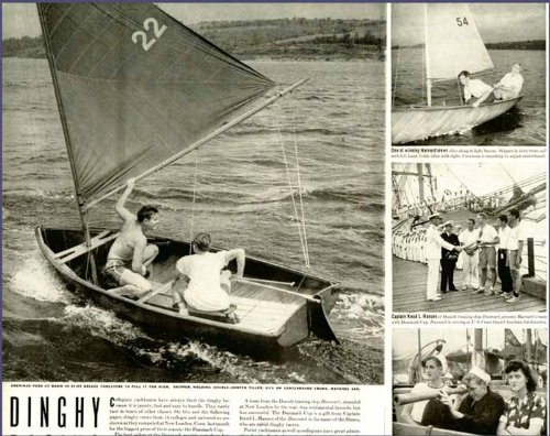 (Great 4-PG 1942 Article on Dinghy Racing and The Danmark Cup Original Paper Ephemera Authentic Vintage Print Magazine Ad/Article)