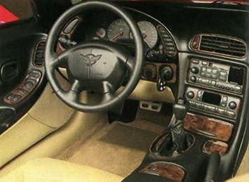 Chevrolet Chevy Corvette C-5 C 5 C5 Interior Aluminum Silver Dash Trim KIT Set 1997 1998 1999 2000