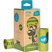 Earth Rated 120-Count Dog Waste Bags, Biodegradable Unscented Pooh Bags, 8 Refill Rolls