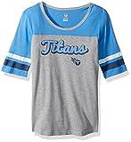 NFL Girls 7-16″ Fan-Tastic Short Sleeve Tee-Heather Grey-M(10-12), Tennessee Titans