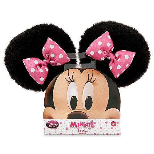Disney Minnie Mouse Kids Girl's Pink Bow Ear Hair (Minnie Mouse Hair Clips)