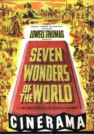 Lowell Thomas' Seven Wonders of The World. Cinerama. . Vintage Souvenir Program