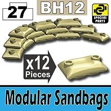 Custom Tan Army Sandbags Designed for toy Brick Minifigures