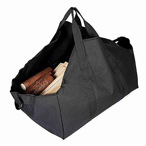 Huntvp Firewood Carrier Log Tote Heavy Duty Best Bag for Carrying Wood Dust-Proof Collapsible