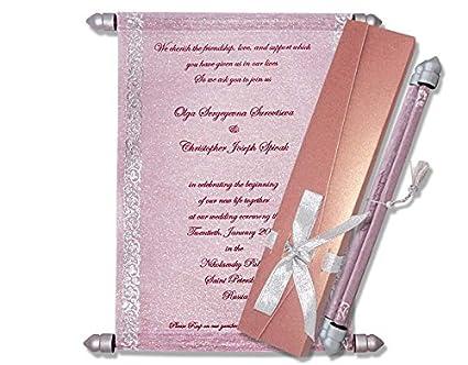 Scroll Wedding Invitations.Scroll Invitations Scroll Wedding Invitations 10 Pcs Purple