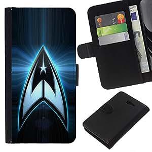 A-type (Logotipo de la estrella del equipo del espacio) Colorida Impresión Funda Cuero Monedero Caja Bolsa Cubierta Caja Piel Card Slots Para Sony Xperia M2