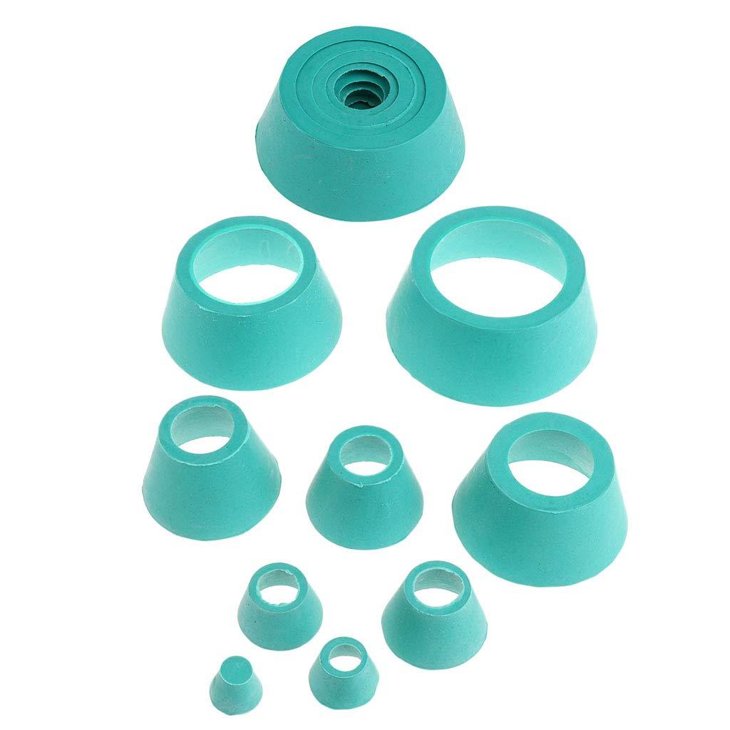 2 Set Filter Adapter Cone Rubber Stopper Buchner Funnel Flask Filtration Set by Gazechimp
