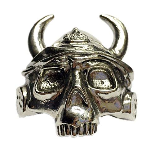 (Boy Scout Neckerchief Slide Skeleton Viking Helmet Woggle Item No.WK68 )