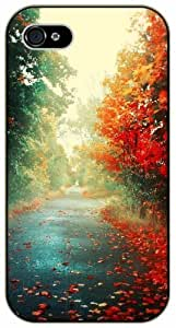 Beautiful path, green and red - iPhone 4 / 4s black plastic case / Flowers and Nature, floral, flower
