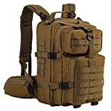 Tactical Backpack - Gelindo Military Tactical Backpack, Hydration Backpack, Army Molle Bug-Out Bag, Small Rucksack Hunting, Survival, Camping, Trekking, 35L (Tan)