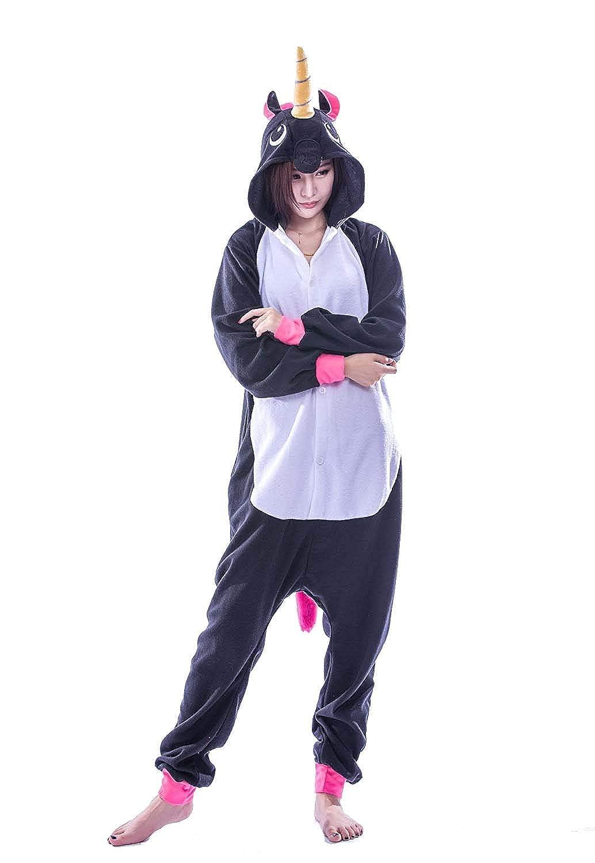 Tooplab Einhorn Pyjamas Kostüm Jumpsuit Tier Schlafanzug Erwachsene