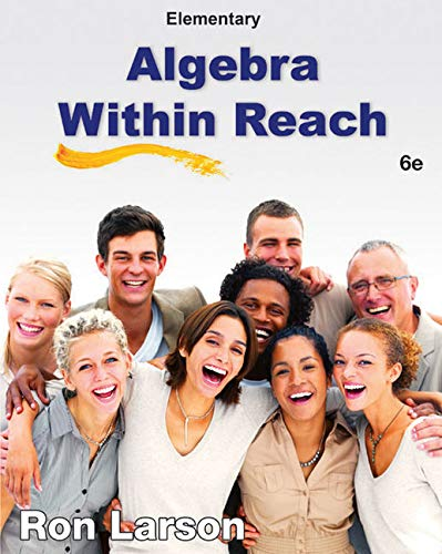 WebAssign for Larson's Elementary Algebra: Algebra Within Reach, 6th Edition [Online Code] by Cengage Learning