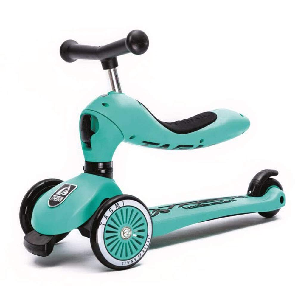 高級感 Bert100 子供のツーインワン3輪スクーター、高さ調節可能 Green、持ち運びが簡単 )、子供の誕生日プレゼントに最適 うまく設計された ( Color : Color Green ) B07R1RFRH3, ナガスマチ:77e680f4 --- svecha37.ru