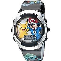 Pókemon, reloj negro de cuarzo con pantalla digital para niños POK3018