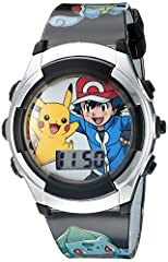 The POK3018 - Pokémon boys and girls digital watch is the most fun Pokémon watch for kids: including multi-colored LCD flashing lights and extra large Pokémon characters (like Ash and Pikachu) on the dial and strap! Perfect for young Pokémon ...