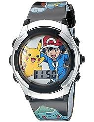 Pokemon Kids\' POK3018 Digital Display Quartz Black Watch