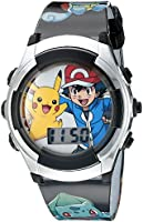 Pokemon Kids POK3018 Digital Display Quartz Black Watch