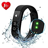 Fitness Tracker DIWUER Smart Watch with Heart Rate Monitor Calorie Counter Pedometer Sport Sleep Activity Tracker Waterproof Bracelet Wristband for iPhone Android Phone