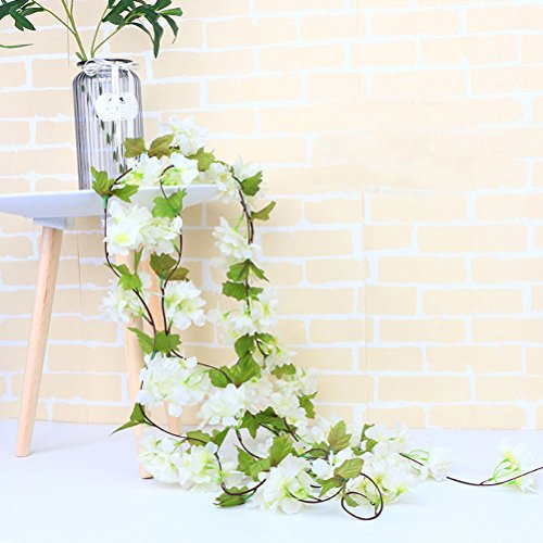 UUPP-2Pcs-72FT-Artificial-Cherry-Blossom-Flower-Garland-Silk-Fake-Flower-Hanging-Vine-for-Home-Hotel-Office-Garden-Wedding-Party-Outside-Decoration-White