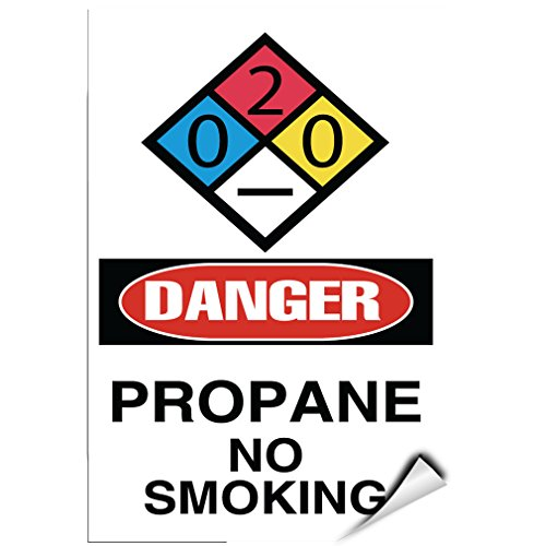 Danger Propane No Smoking Danger Hazard Sign Flammable LABEL DECAL STICKER 5 inches x 7 (Danger Propane)