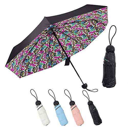 Lejorain Mini Best Lightweight Pocket Umbrella - Sun&Rain Umbrella - Small&Portable&UV Protection 50 (Pattern)