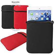 G-HUB® - Reversible Neoprene Sleeve for iPAD MINI & iPAD MINI 2 - Cover is BLACK on the outside (or RED when reversed) - Designed by G-Hub® specifically for use with the Apple iPad Mini and iPad Mini 2