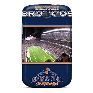 Shockproof Hard Phone Covers For Samsung Galaxy S3 (UPT14774SqhH) Support Personal Customs Lifelike Denver Broncos Series