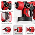 Paint Sprayer, Electric Spray Gun with 3 Spray Patterns, 3 Copper Nozzles, Flow Control and 800ml Detachable Container for Various Painting Projects