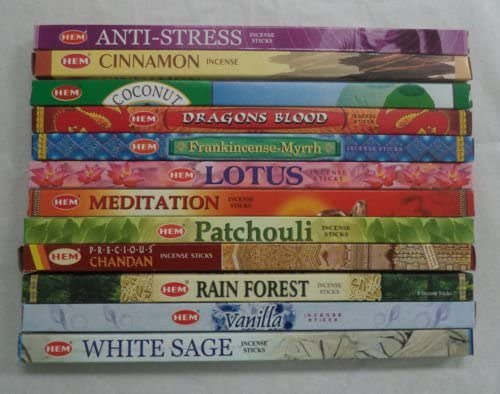 10 Boxes HEM The Sun Incense 8 Sticks Per Box 80 Total Sticks Free Shipping