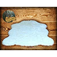 Faux Sheepskin Rug White (Large 4 6 x 6 8)