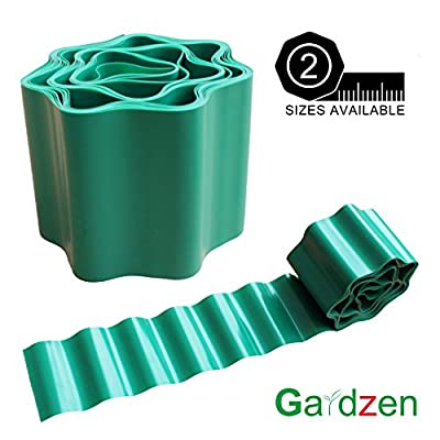 Gardzen 3.9in X 29ft Gardening Green Flexible Plastic Garden Lawn Edging, Border Edging For Lawns, Flower Beds. Protect Your Lawn From Erosion With This Strong And Durable Plastic Lawn Edging