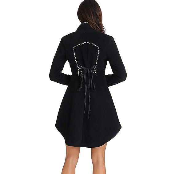 ZORE Women Coat Mujer Vintage Steampunk Abrigo Largo gótico Overcoat señoras Retro Chaqueta Cardigan: Amazon.es: Ropa y accesorios