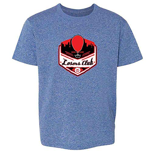 Pop Threads Losers Club Derry Maine Logo Horror Halloween Heather Royal Blue XL Youth Kids T-Shirt ()