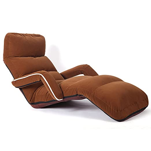 WKHQQ-sofá Sofá Perezoso Plegable Ajustable, cojín para ...