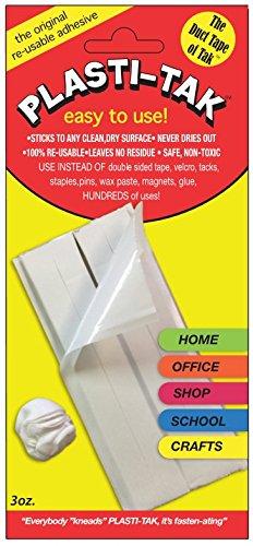 PLASTI-TAK #99 Reusable Adhesive Sticks to Any Clean Dry Surface, 3 oz. Permoseal