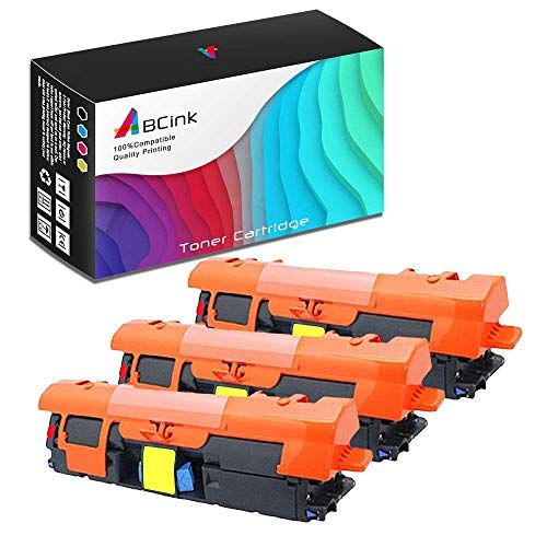 ABCink C9702A 121A Toner Compatible for HP Laserjet C9700A C9701A C9702A C9703A C9704A Printer Toner Cartridge,4000 Yields(3 Pack,Yellow)