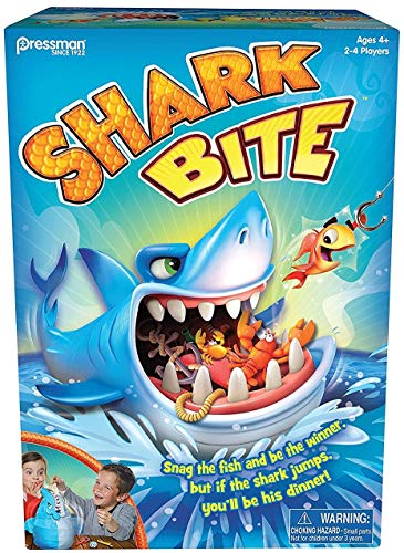 Pressman Toys Shark Bite Game (2-4 Players) (Best 2 4 Player Board Games)