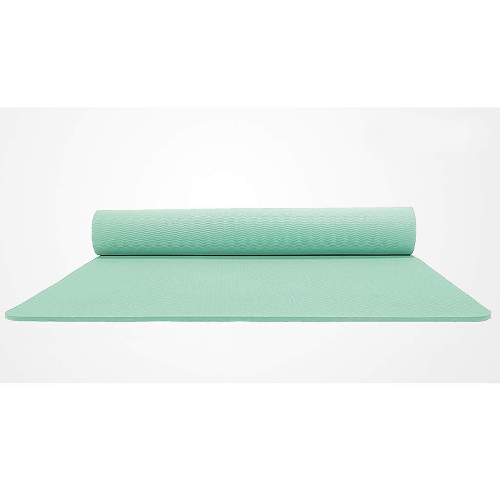 ASJHK Stuoia di Yoga 6mm8mm allargato Spessa Uomini e Donne Tappetino da Fitness Antiscivolo Tappetino Yoga principiante insapore Tre Pezzi Stuoia di Yoga (colore   E, Dimensioni   6mm)
