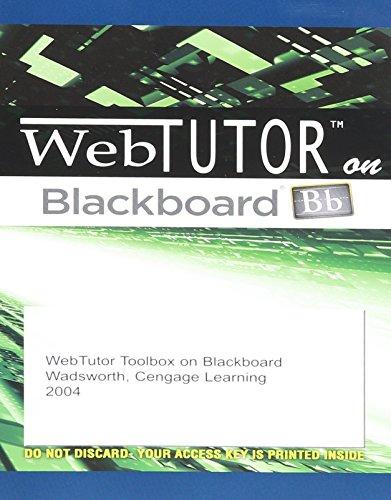 """WebTutorâ""""¢ ToolBox on Blackboard Printed Access Card"""