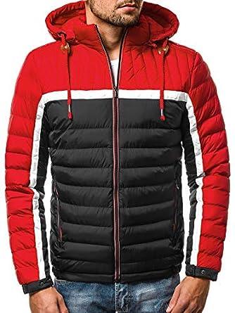 OZONEE Herren Winterjacke Parka Jacke Kapuzenjacke Wärmejacke Wintermantel Coat Wärmemantel Warm Modern Täglichen JB/1069